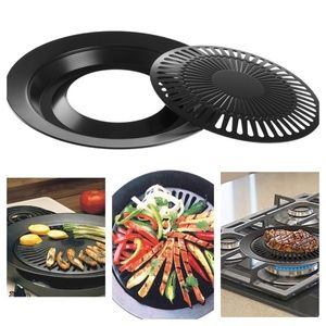 """2/$25 12.5"""" Non-stick Smokeless Indoor BBQ Grill"""